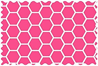 product image for SheetWorld 100% Cotton Percale Fabric by The Yard, Hot Pink Honeycomb, 36 x 44
