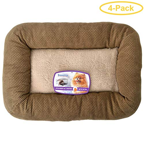 Precision Pet Mod Chic Bumper Bed - Coffee Model 2000-25'' Long x 20'' Wide - Pack of 4