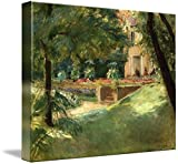 Wall Art Print entitled Max Liebermann The Flower Terrace At Wannsee To Th by Celestial Images | 45 x 36