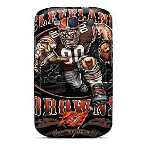 DAMillers Scratch-free Phone Case For Galaxy S3- Retail Packaging - Cleveland Browns