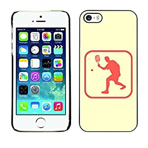 Smartphone Rígido Protección única Imagen Carcasa Funda Tapa Skin Case Para Apple Iphone 5 / 5S Ping Pong Table Tennis Area / STRONG