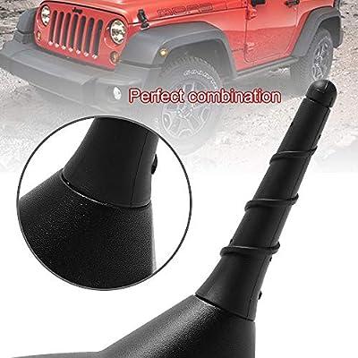 BASIKER 3.2 Inch Stubby Antenna Mast for 2011-2020 Jeep Grand Cherokee Dodge Durango Chrysler 200 Fiat 500 Fm/AM Radio Reception OEM 5091100AA: Car Electronics