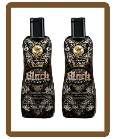 Lot of 2 Sinfully Black 15x Bronzer By Australian Gold 8.5 Oz Tanning Lotion