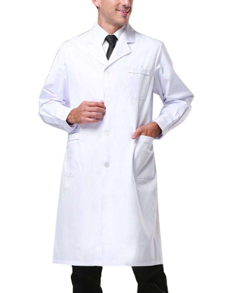 Nachvorn Professional Unisex Lab Coat Workwear Scrubs Uniform, Men XXXXL by Nachvorn (Image #3)