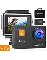APEMAN A80 Action Camera 4K 20MP WiFi Ultra HD Underwater Waterproof 40M Sports Camcorder with 170° EIS Sony Sensor, 2 Upgraded Batteries, Portable Carrying Bag and 24 Mounting Accessories Kits