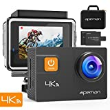 APEMAN Action Camera 4K 20MP WiFi Ultra HD Underwater Waterproof 40M Sports Camcorder with 170 Degree EIS Advanced Sensor, 2 Upgraded Batteries, Portable Carrying Bag and 24 Mounting Review