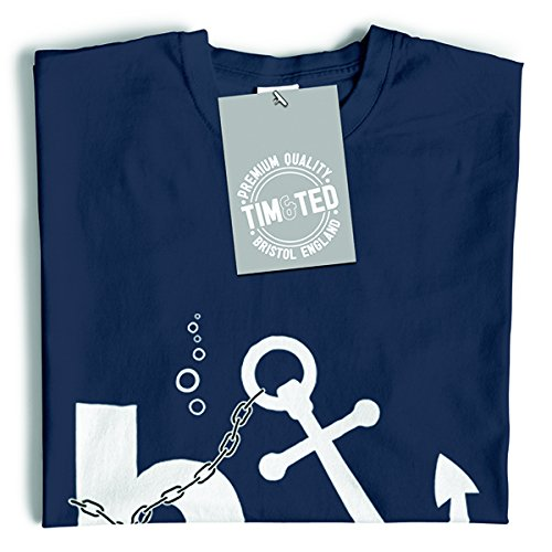 Tim and Ted Bonus Banker Anchor Banche Città Funny Money subacquea sleale T-Shirt Da Donna