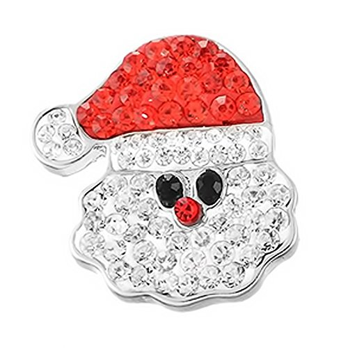 Holiday Necklace Charm - LOV*MOMENT Lovmoment Snap Christmas Santa Claus Snap Charms Interchangeable Snap Jewelry Charms