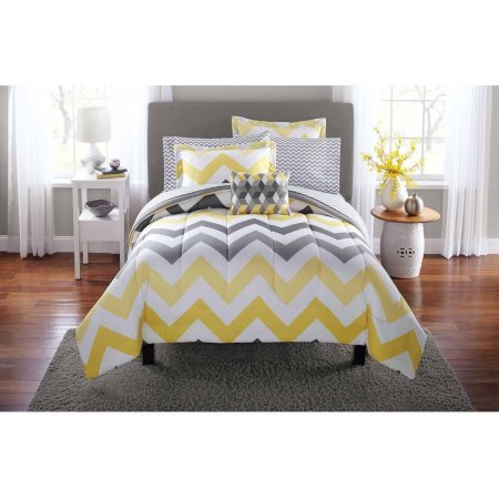 Mainstays Yellow Chevron Bedding Comforter product image