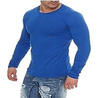 SJHU Herren Langarmshirt Longsleeve T-Shirt Rundhals Top S M L XL 2XL 3XL