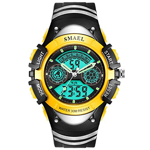 High End Analog Digital LED Boys Wrist Watch Kids Stopwatch