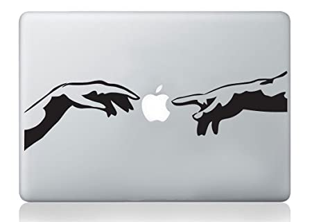 Michelangelo creation of adam italian hands mac sticker apple macbook laptop decal art vinyl art