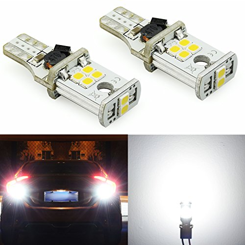 JDM ASTAR 1000 lumens Extremely Bright Error Free 921 912 PX Chips LED Bulbs For Backup Reverse Lights, Xenon White