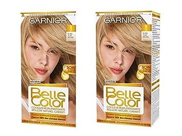 garnier belle color coloration permanente blond 01 blond clair naturel lot de 2 - Belle Color Blond Naturel