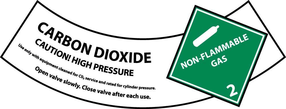 CY103AP National Marker Carbon Dioxide Cylinder Shoulder Label (Pack of 25)