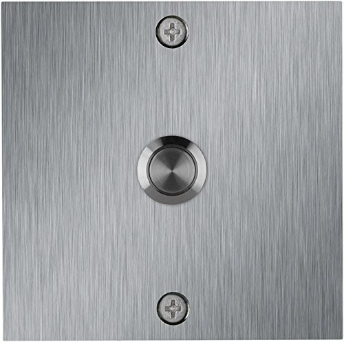 (Stainless Steel Square Doorbell by Company's Coming Inc.)
