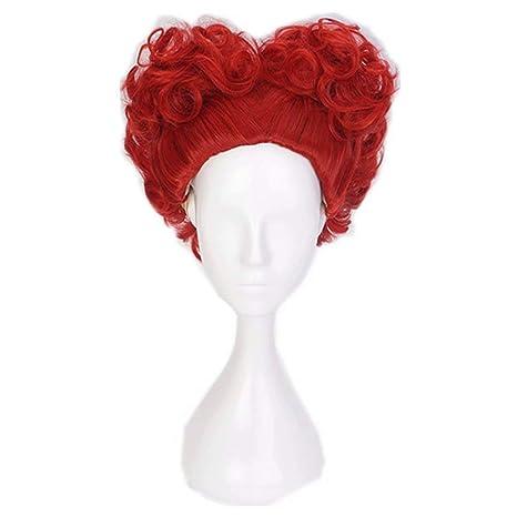 NiceLisa Masquerade Peluca de fiesta de noche para cosplay, estilo de corazón, corta,