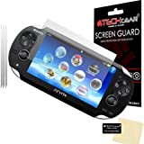 [PACK OF 3] SONY PlayStation PS VITA Clear Screen Protectors with Cleaning cloth - TECHGEAR