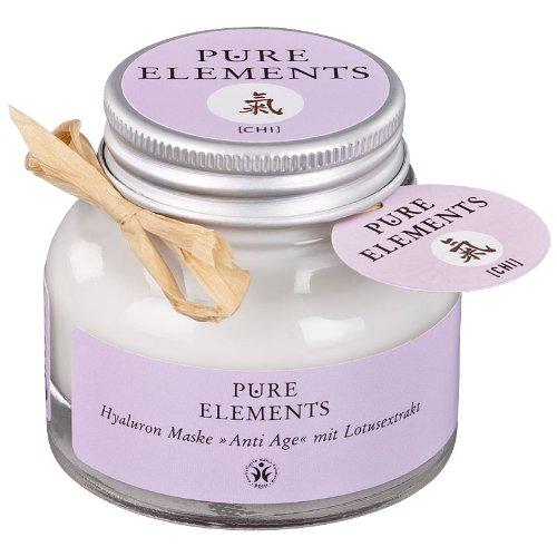 Pure Elements [CHI] Natural Hyaluronan Anti-Aging Mask with Lotus Extract - Hyaluronic Acid from natural liposomes for deeper penetration