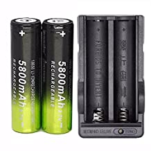 UltraFire 18650 3000mAh 3.7V Rechargeable Li-Ion Battery (Pair) + Charger Combo