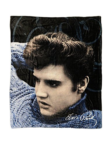 Midsouth Products Elvis Throw Blanket - Blue Sweater ()
