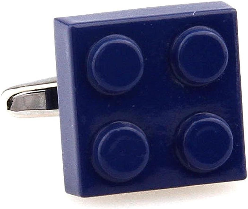 MRCUFF Building Block Blue Pair Cufflinks in Presentation Gift Box & Polishing Cloth