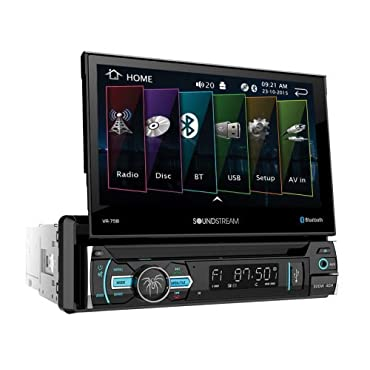 SoundStream 1 DIN Audio System with Bluetooth & 7 Screen (VR-75B)
