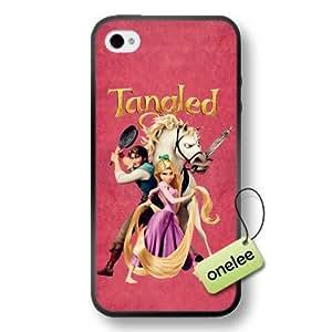 Disney Tangled Princess Rapunzel Soft Rubber(TPU) Phone Case & Cover for iPhone 4/4s - Black wangjiang maoyi