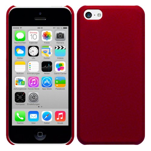 RT-TRADING Apple iPhone 5C Hybrid Rubber Hard Case Hülle Cover Etui Tasche in Rot