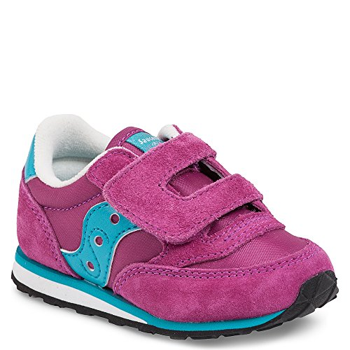 Saucony Girls' Baby Jazz HL Sneaker, Magenta BL, 8 Wide US Toddler