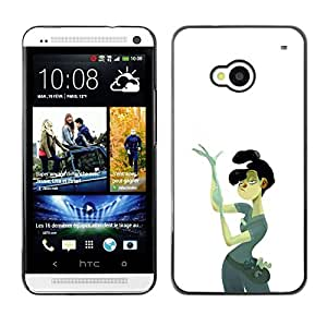 "For HTC One ( M7 ) Case , Policía Detective Forense Mujer Arte Pintura"" - Diseño Patrón Teléfono Caso Cubierta Case Bumper Duro Protección Case Cover Funda"