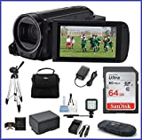 Canon VIXIA HF R72 Full HD Camcorder Ultimate Bundle, includes: 64GB SDXC Memory Card, LED Light, Tripod, Spare Battery and more...