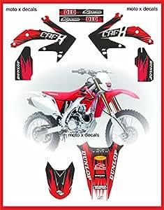 Honda-PTS-pro-equipo-series-gráficos crfx450x-graphics-etiqueta-Adhesivos