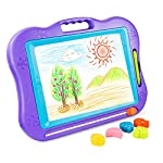BATTOP Big Size Kids Drawing Board, Magnetic Colorful Erasable Skill Development Drawing Board Blackboard For Baby/Kids/Children (Blue) (Purple)
