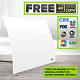 Mohu Flow 40-Mile Range Designer Indoor HDTV Antenna (2018 Newest Version) - GET Free TV - Omnidirectional, Includes Long Coax, Replace Cable TV