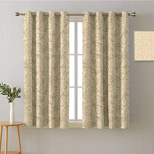 """Suchashome Curtain Doorway Grommets Insulated Darkening Curtains Design Darkening Curtains Style Darkening Curtains Curtains/Panels/Drapes(1 Pair, 31.5"""" Width Each Panel)"""