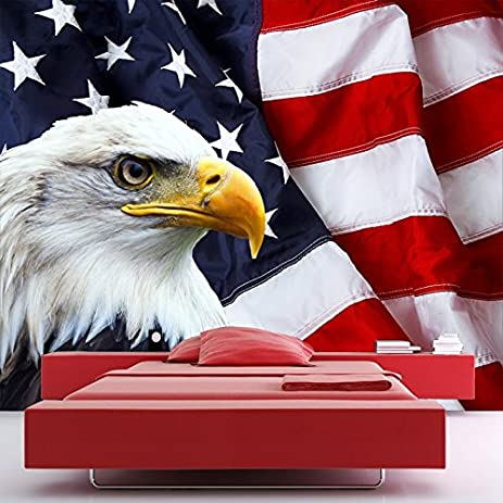 American Flag Wall Mural Eagle Bird Photo Wallpaper Bedroom Living Room Decor Available In 8 Sizes