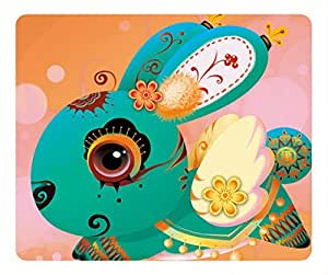 Rabbit oblong mouse pad by Cases & Mousepads by lolosakes