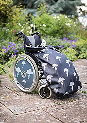 100% Waterproof Fleece Lined Wheelchair Cosy Cover | Universal fit for Manual and Powered wheelchairs | Adult Size (Silver Lightning)
