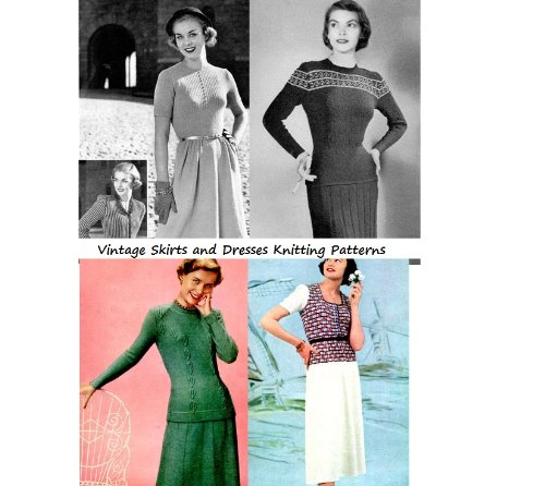 Vintage Skirts, Blouses and Jackets to Knit - A Collection of 26 Dress Knitting Patterns from the - Vintage Knitting