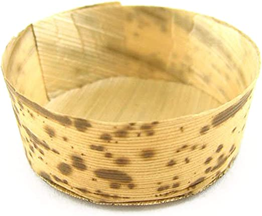 """Bamboo Leaf Round Tubs Bowl Cup 300 Pack  2.2/"""" dia x 1/"""" high  BambooMN New"""