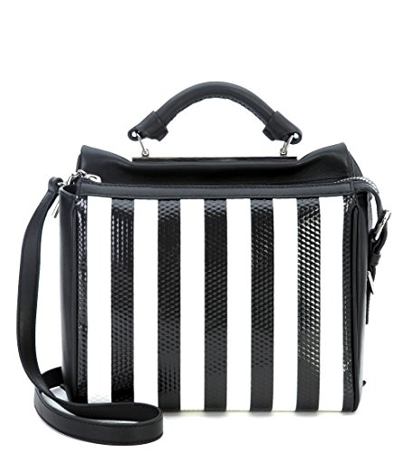 31-phillip-lim-womens-31-phillip-lim-small-ryder-satchel-handbag-in-black-leather-with-white-stipes-