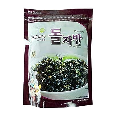 ROM AMERICA Korean Roasted Grape Seed Oil Seasoned Seaweed Snack Green Laver 2.47 Ounce ???