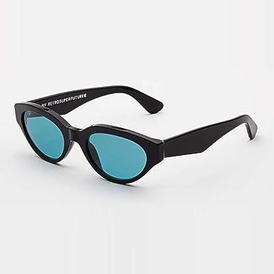 9a89012a3b4579 SUPER by Retrosuperfuture Sunglasses Drew Black Turquoise 4D7 R 53 20 145  NEW