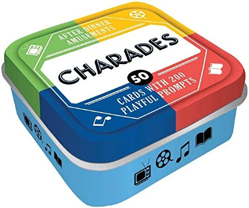 After Dinner Amusements: Charades: 50 Cards with 200 Playful Prompts (Charades Game for Adults and Family, Portable Camping and Holiday Games)