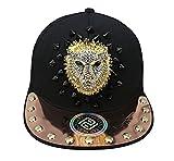 myglory77mall PRANKERS Handmade Flat Cap Snapback Bboy Hats Adjustable Hip-Hop gl9b Black Mesh S For Kids
