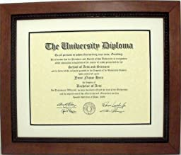 Graduation Diploma University Certificate Document Frame for 8-1/2 X 11