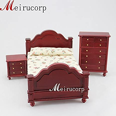 Furniture Latest Collection Of Nightstand Bedroom Doll House Furniture Miniature Dollhouse Antique Vintage