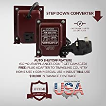ACUPWR ADB-2500 2500-Watt 220-240 Volts to 110-120 volts Step Down Voltage Transformer/ Converter with Type G Fuse Plug (BS-1363) for use in UNITED KINGDOM