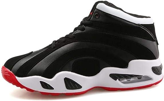 WDDGPZYDX Calzado Deportivo Zapatos Casuales Altos para Hombres Hombres Tallas Grandes 10 Zapatos para Tobilleros Zapatillas Otoñales Zapatillas Altas para Hombres Unisex Moda,Negro,6: Amazon.es: Deportes y aire libre